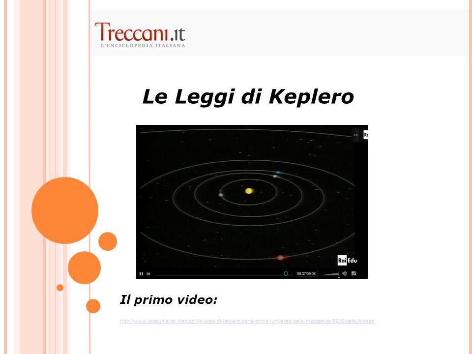 Le Leggi di Keplero Il primo video: