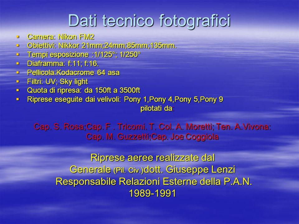 Dati tecnico fotografici