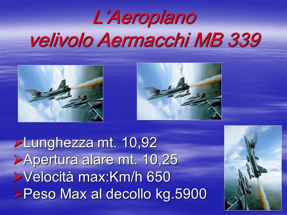 L'Aeroplano velivolo Aermacchi MB 339