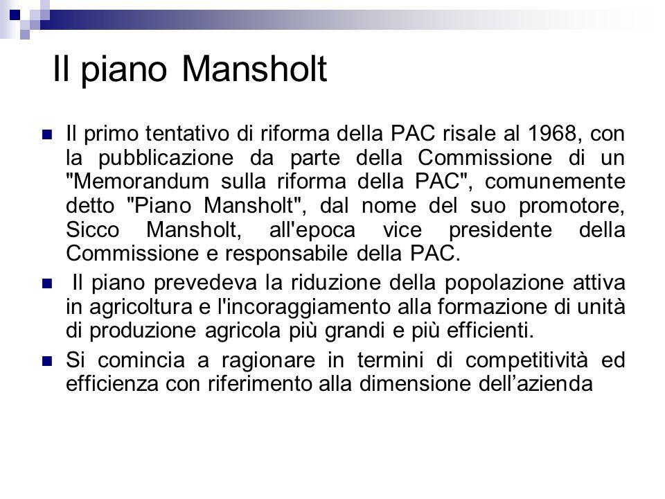 Il piano Mansholt