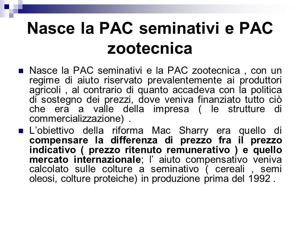 Nasce la PAC seminativi e PAC zootecnica