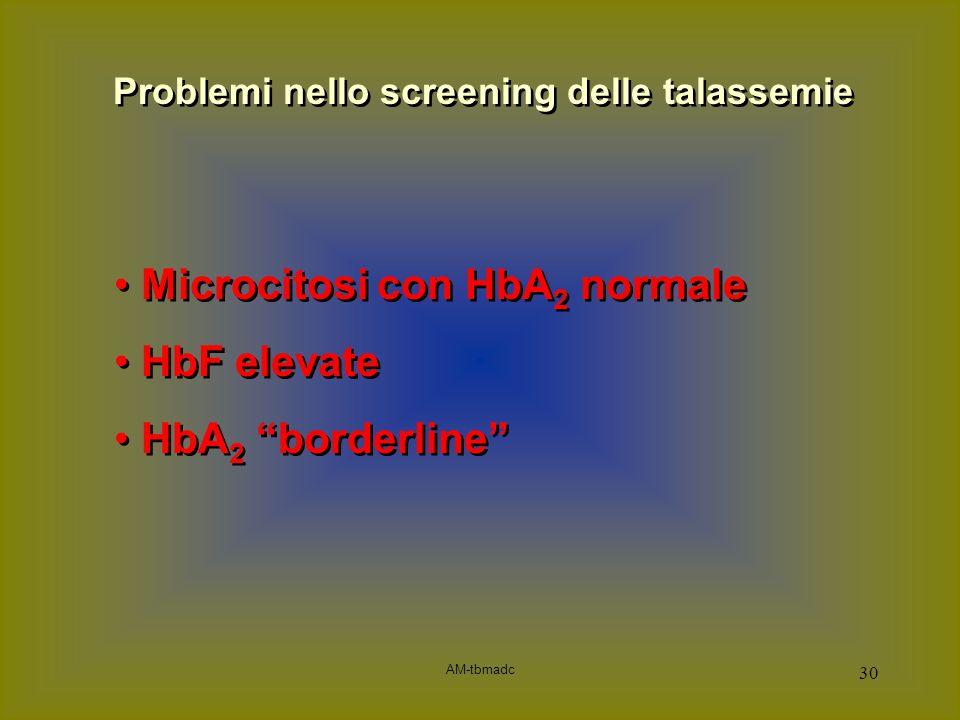 Problemi nello screening delle talassemie