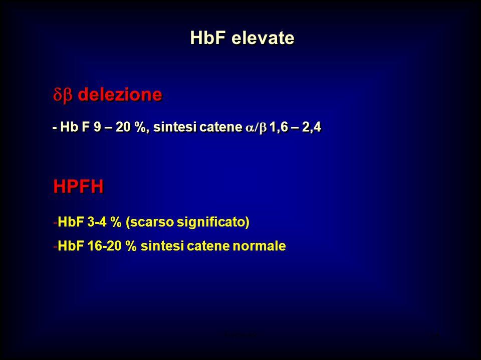 HbF elevate db delezione HPFH