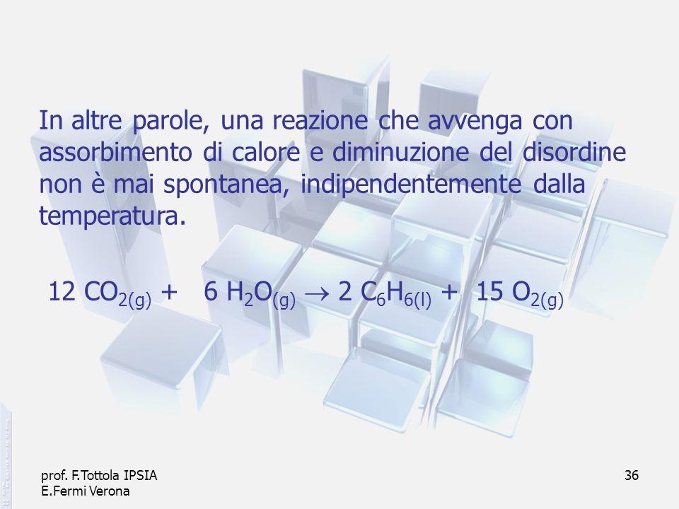 12 CO2(g) + 6 H2O(g)  2 C6H6(l) + 15 O2(g)