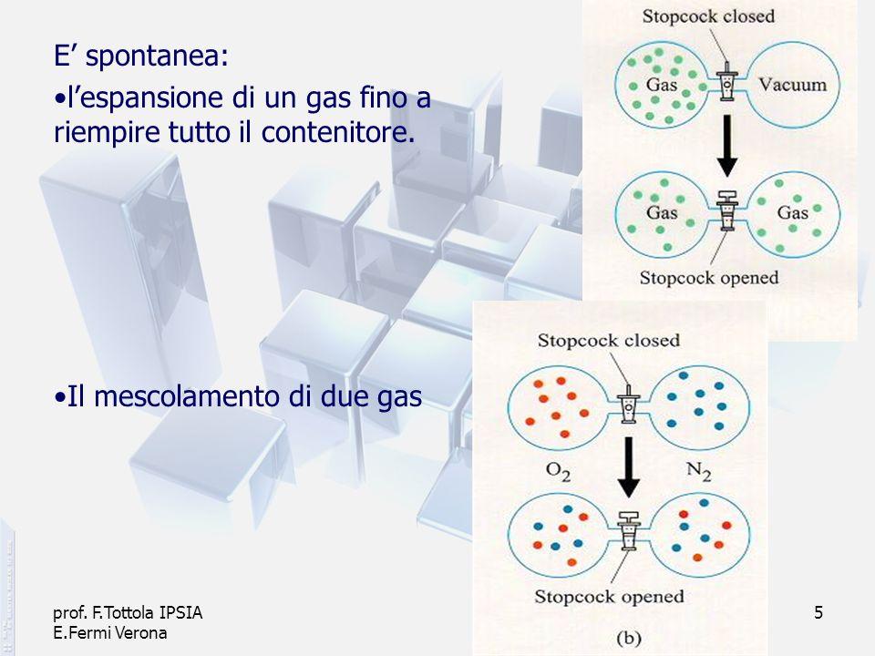 l'espansione di un gas fino a riempire tutto il contenitore.