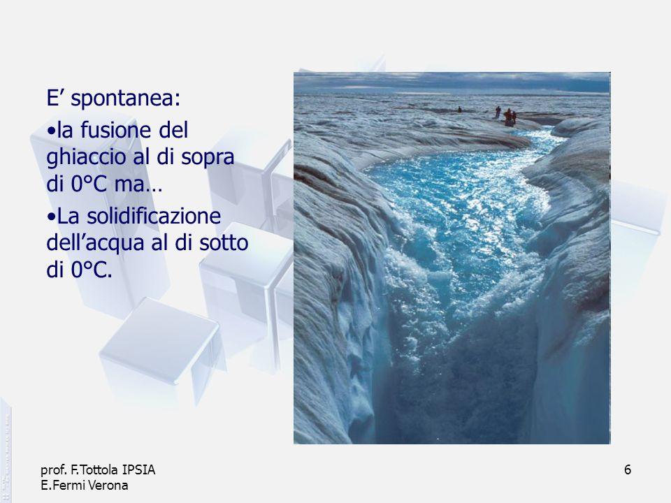 la fusione del ghiaccio al di sopra di 0°C ma…