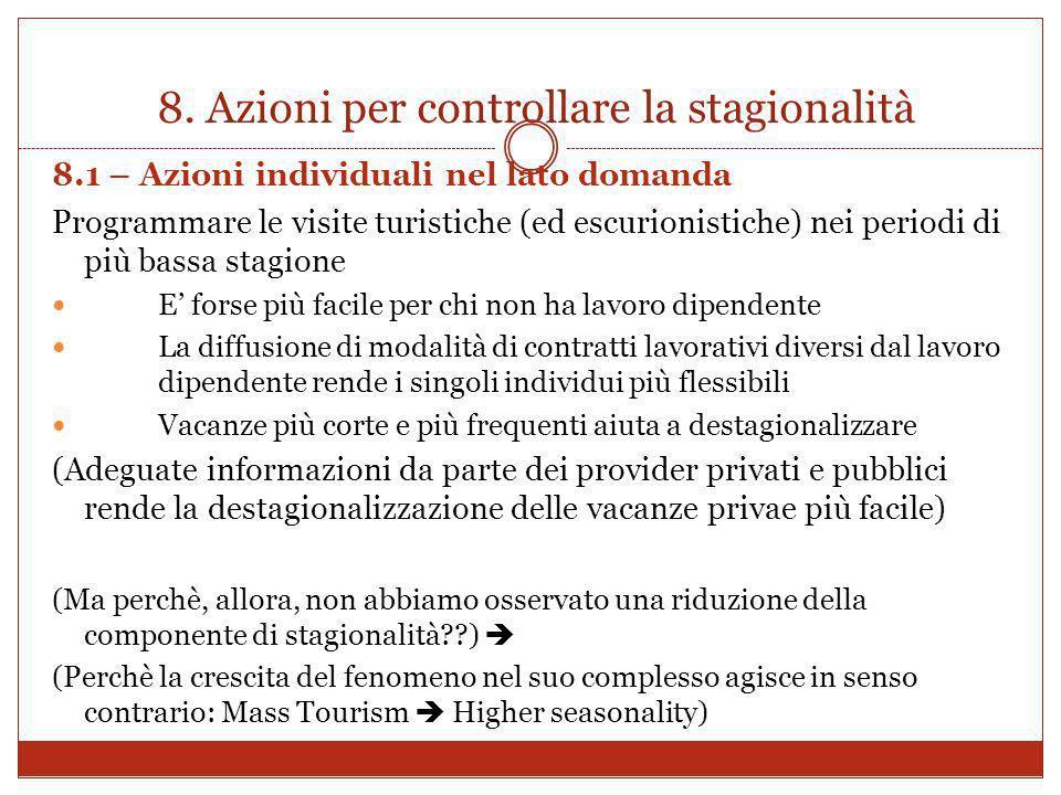 8. Azioni per controllare la stagionalità