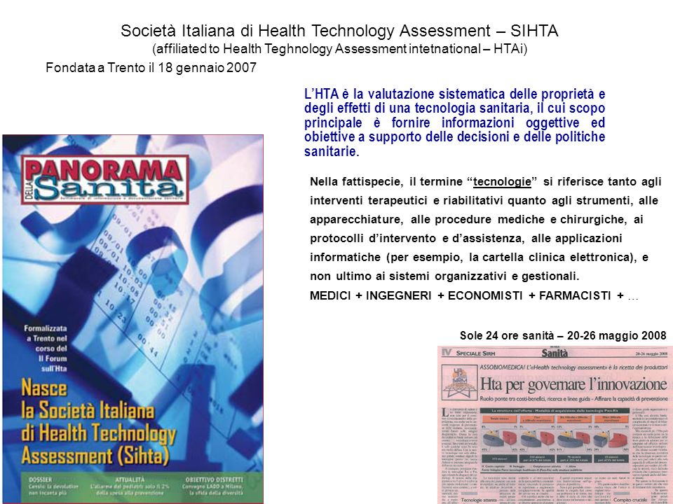 Società Italiana di Health Technology Assessment – SIHTA