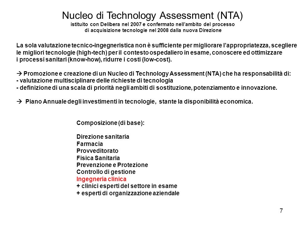 Nucleo di Technology Assessment (NTA)