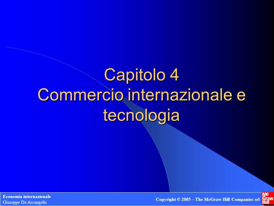 Capitolo 4 Commercio internazionale e tecnologia