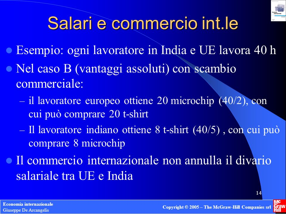 Salari e commercio int.le