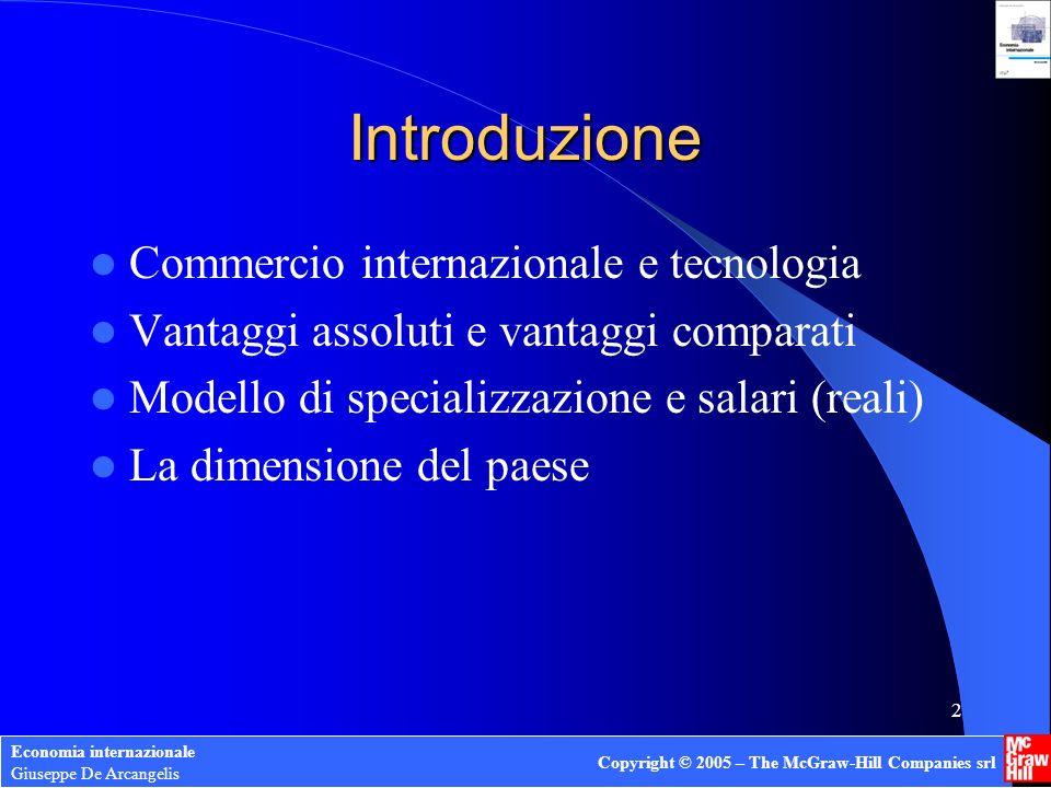 Introduzione Commercio internazionale e tecnologia
