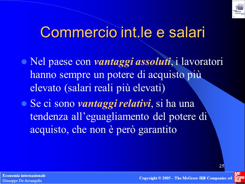 Commercio int.le e salari