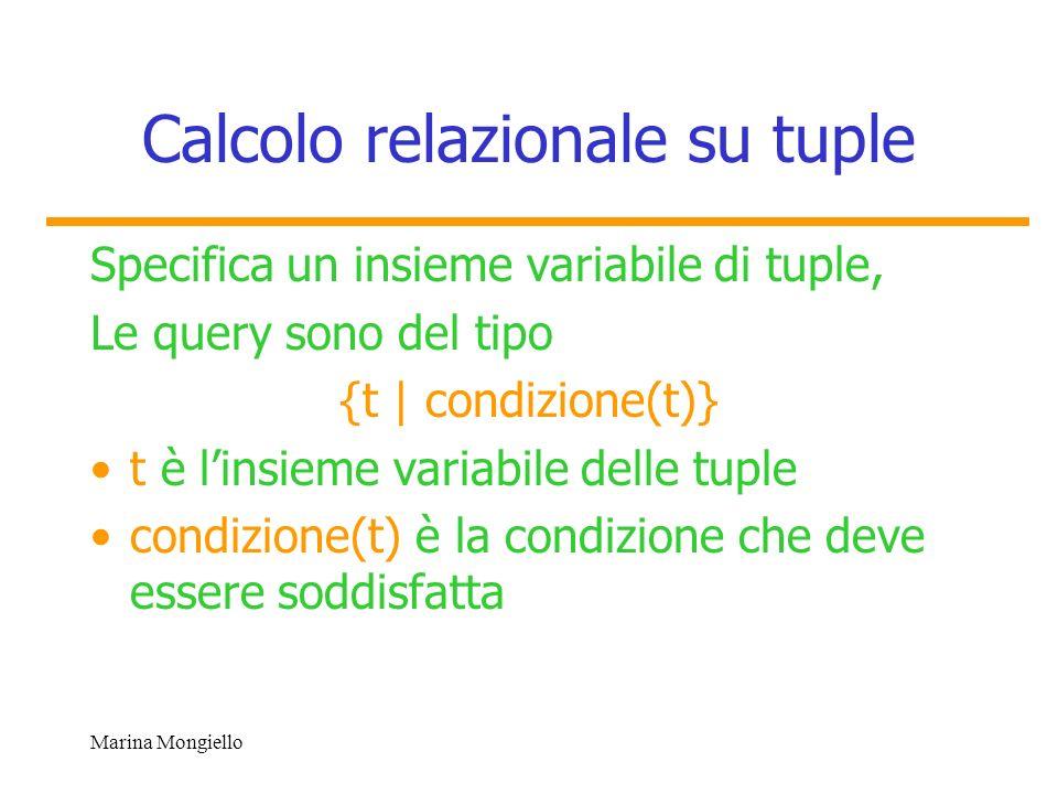 Calcolo relazionale su tuple