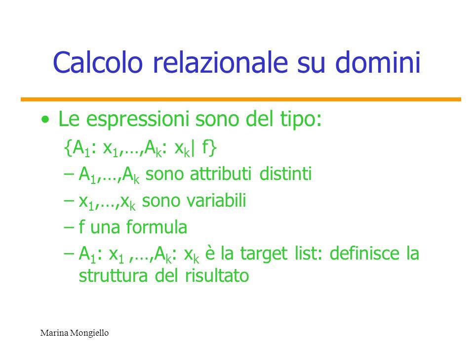 Calcolo relazionale su domini