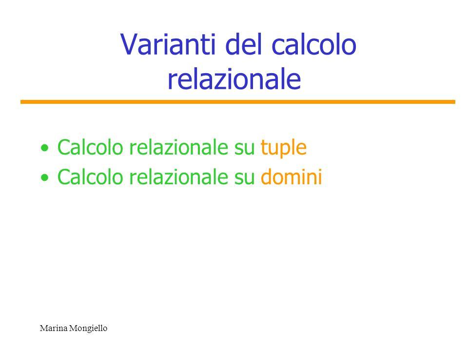 Varianti del calcolo relazionale