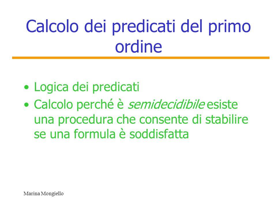 Calcolo dei predicati del primo ordine