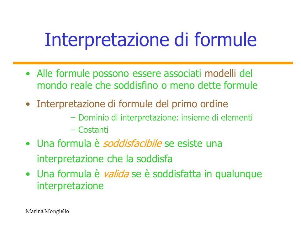 Interpretazione di formule