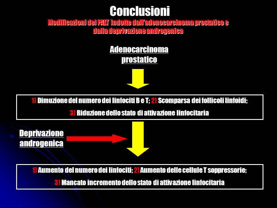 Conclusioni Adenocarcinoma prostatico Deprivazione androgenica