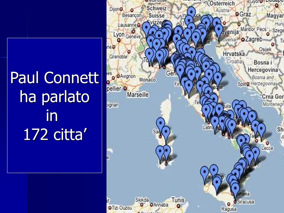 Paul Connett ha parlato in 172 citta'