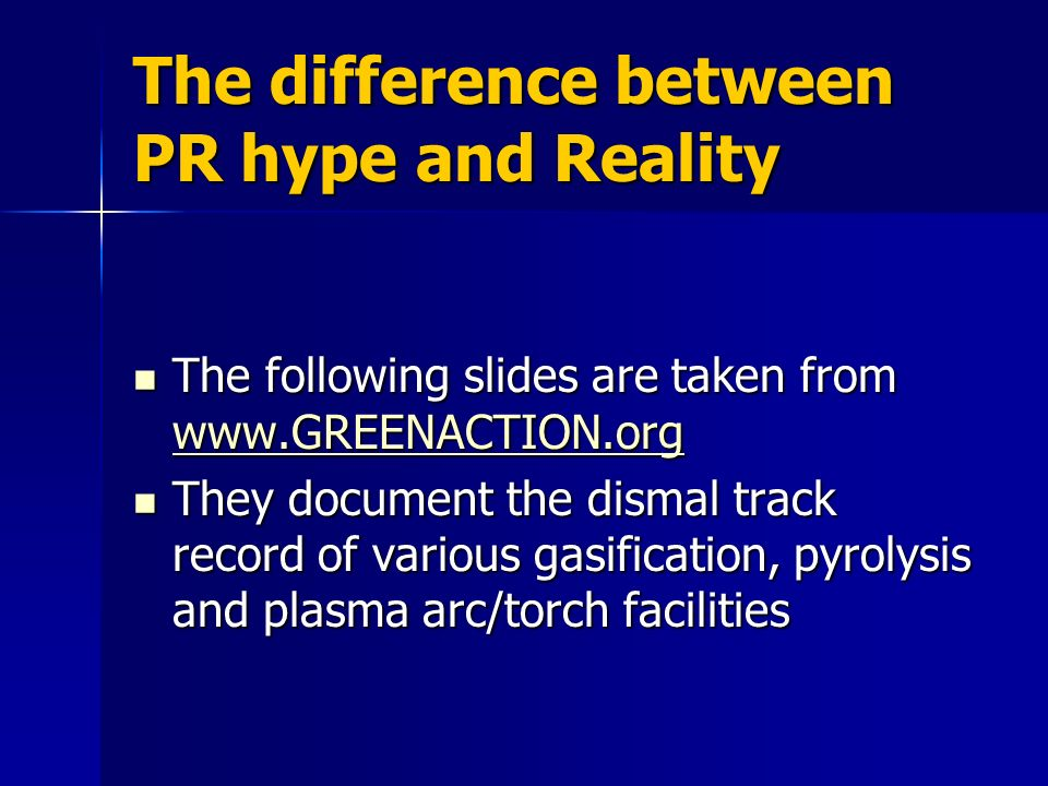 The difference between PR hype and Reality