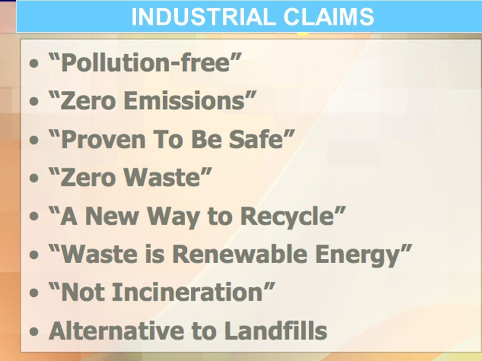 INDUSTRIAL CLAIMS