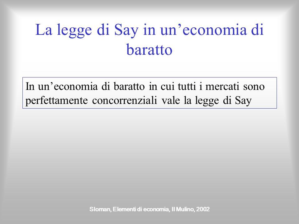 La legge di Say in un'economia di baratto