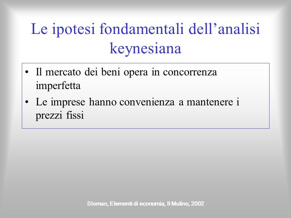 Le ipotesi fondamentali dell'analisi keynesiana