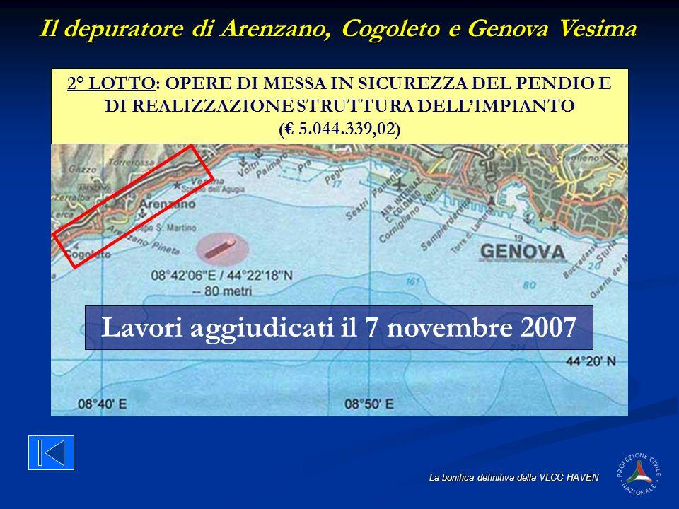 Lavori aggiudicati il 7 novembre 2007