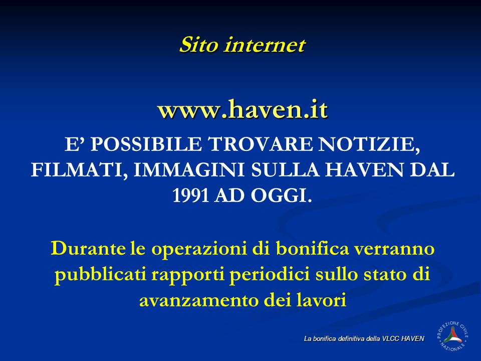 www.haven.it Sito internet