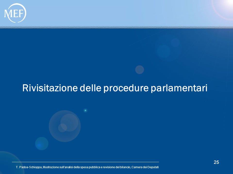 Rivisitazione delle procedure parlamentari