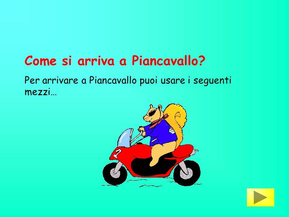 Come si arriva a Piancavallo