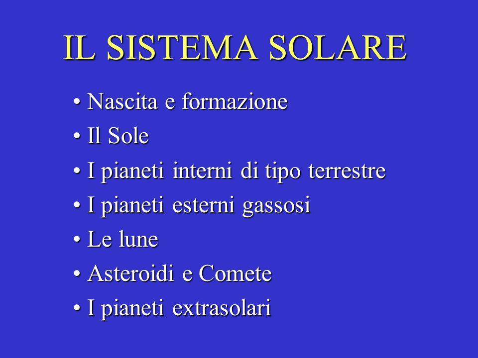 IL SISTEMA SOLARE Nascita e formazione Il Sole