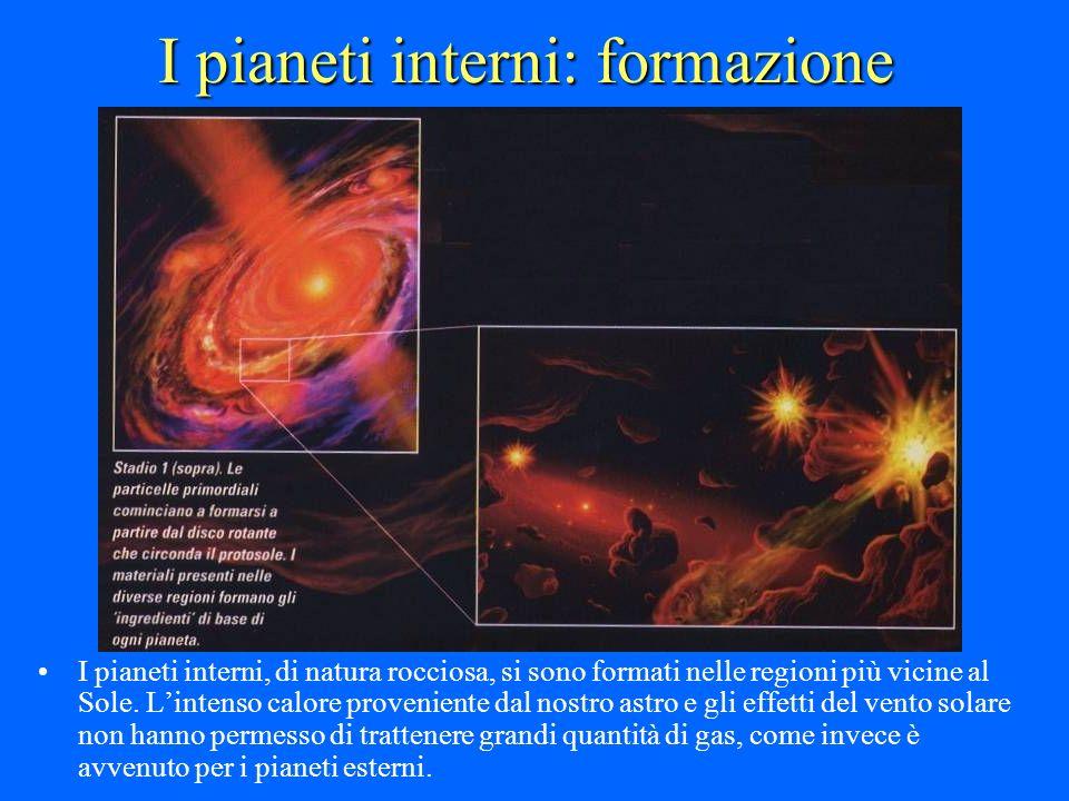I pianeti interni: formazione