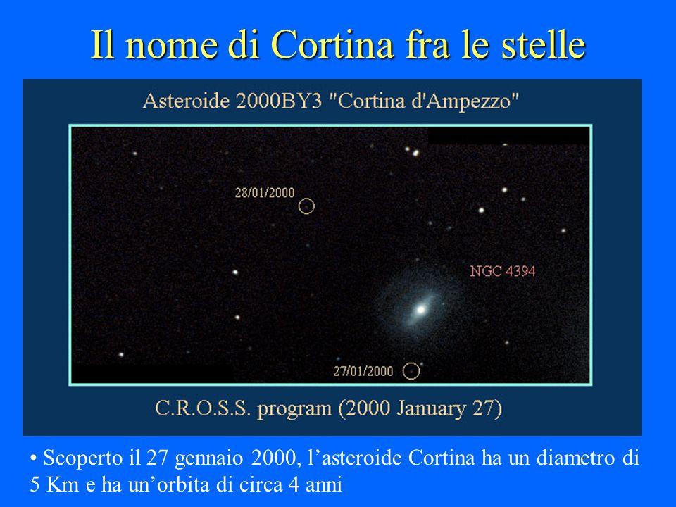 Il nome di Cortina fra le stelle