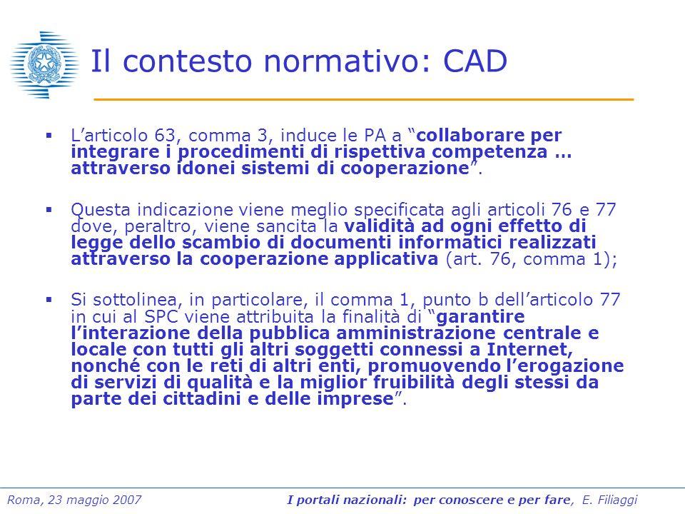 Il contesto normativo: CAD