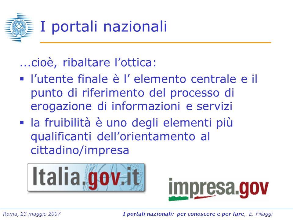 I portali nazionali ...cioè, ribaltare l'ottica: