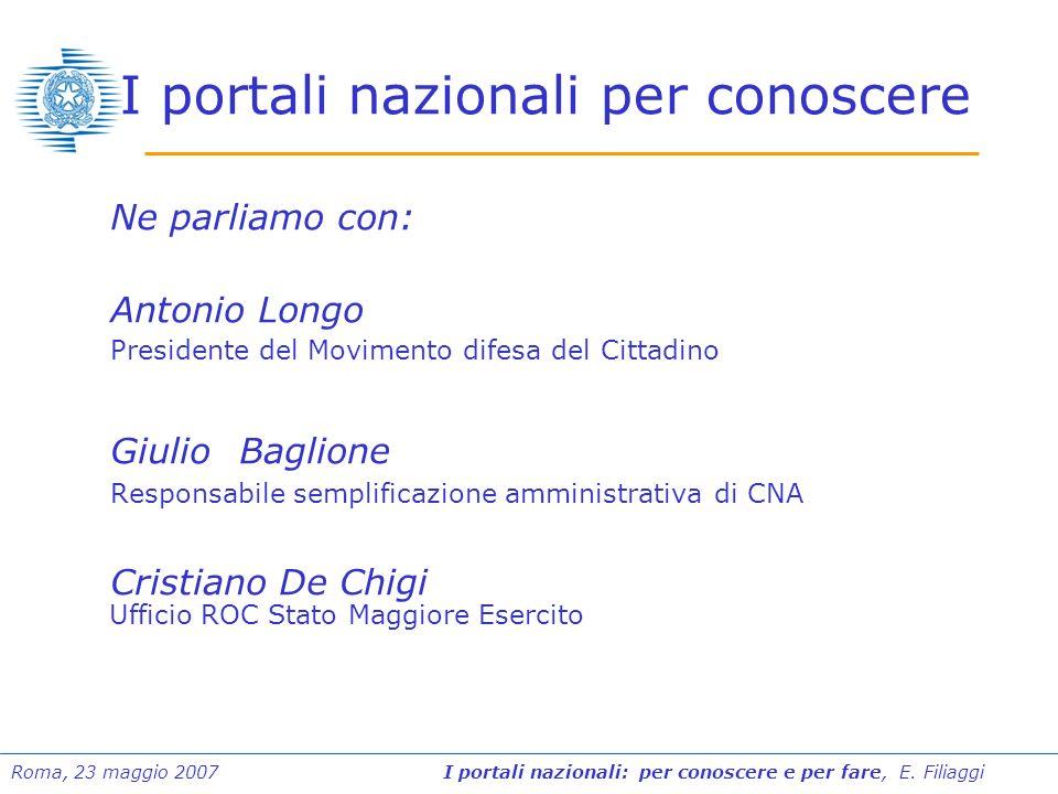 I portali nazionali per conoscere