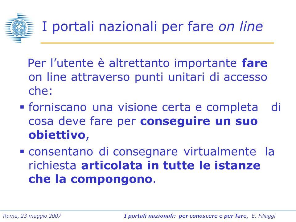 I portali nazionali per fare on line