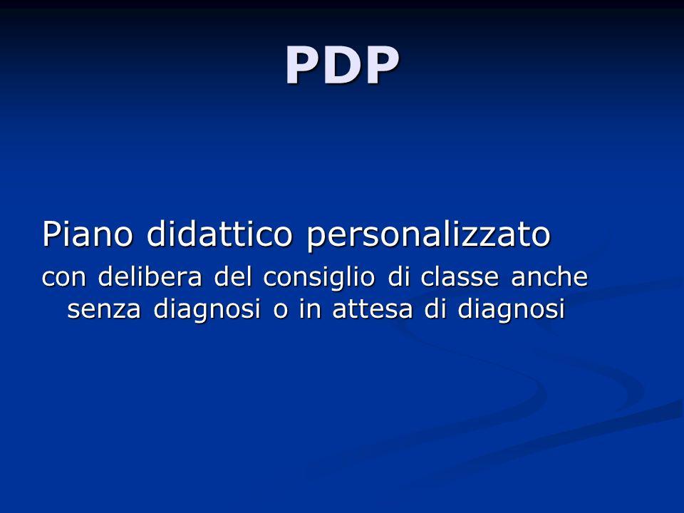PDP Piano didattico personalizzato