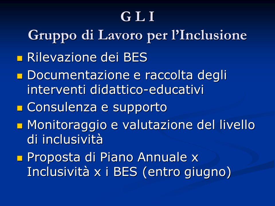 G L I Gruppo di Lavoro per l'Inclusione