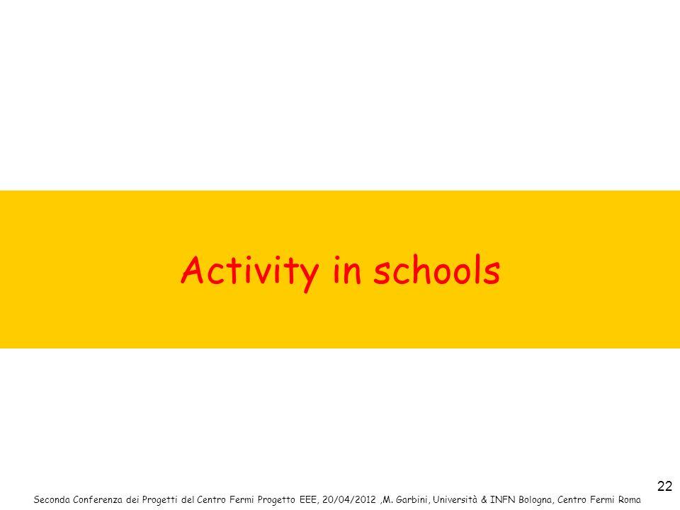 Activity in schools