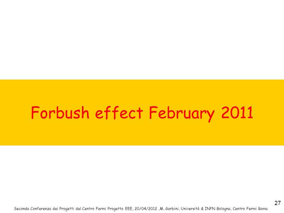 Forbush effect February 2011