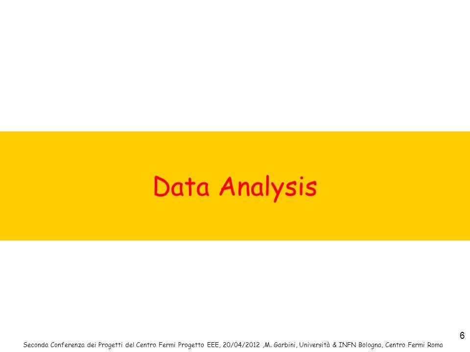 Data Analysis Seconda Conferenza dei Progetti del Centro Fermi Progetto EEE, 20/04/2012 ,M.