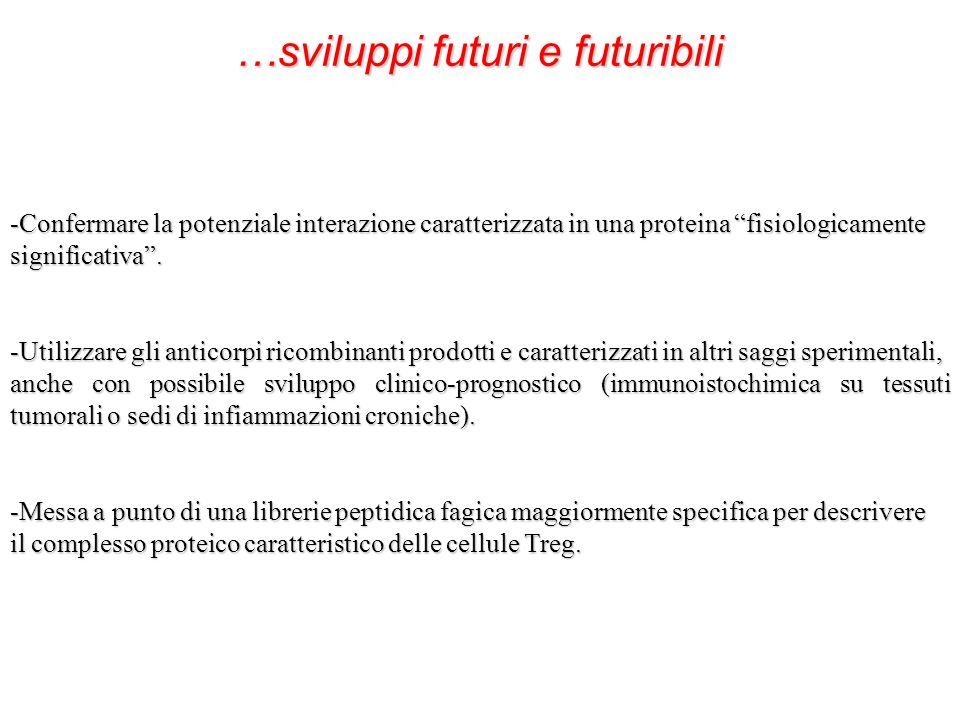 …sviluppi futuri e futuribili