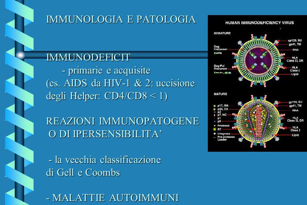 IMMUNOLOGIA E PATOLOGIA IMMUNODEFICIT - primarie e acquisite (es