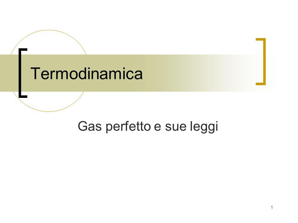 Gas perfetto e sue leggi