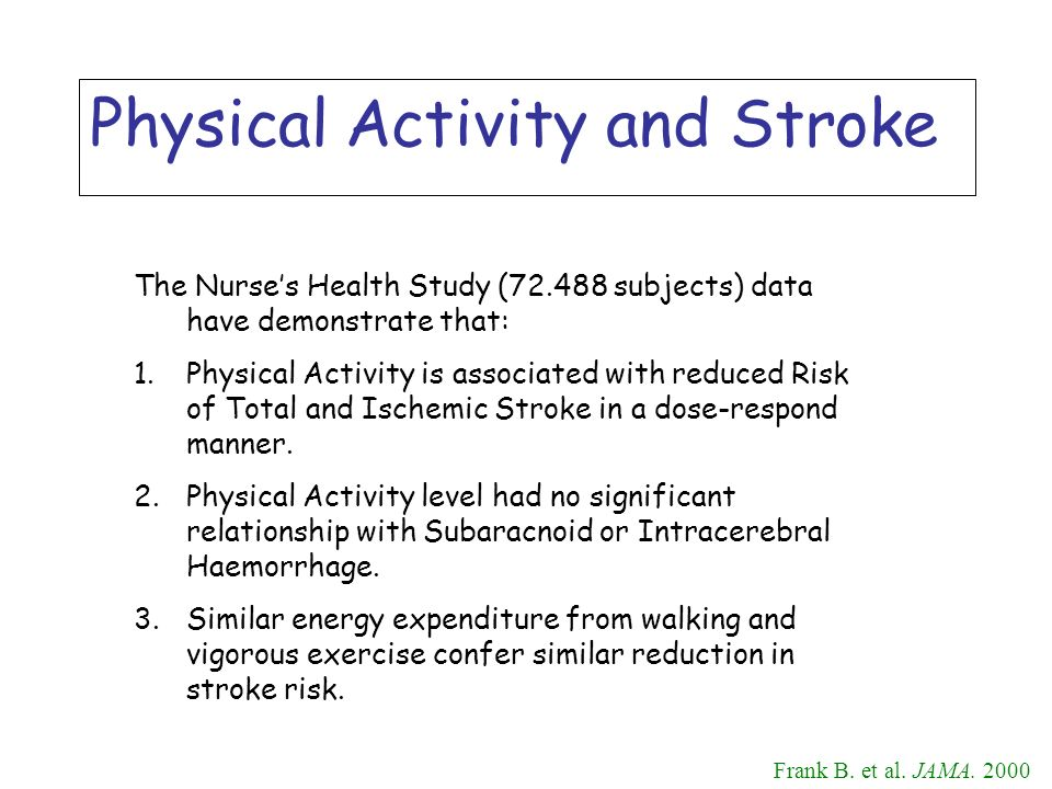 Physical Activity and Stroke