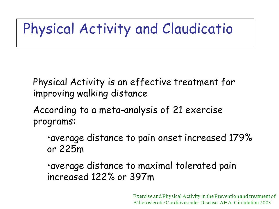 Physical Activity and Claudicatio