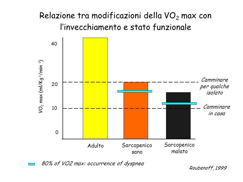 80% of VO2 max: occurrence of dyspnea